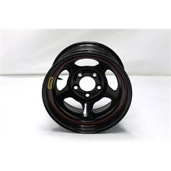 Garage Sale - Basset 58A53 15X8 Inertia 5 on 5 3 Inch Backspace Black Wheel
