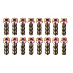Dynatech Header Bolts, 3/8 Inch, Hex Head, Pack/16