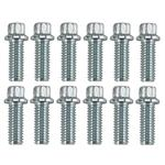 Dynatech Header Bolt 3/8 x 1 Inch, 12 Point, 12 Pack