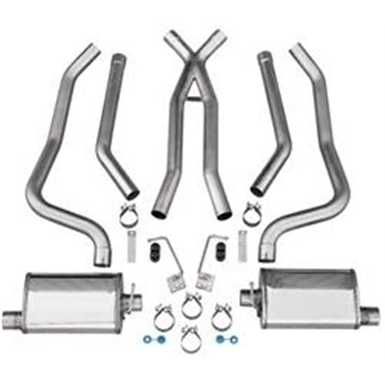 Dynatech&#174; 793-91225 1968-74 Nova Stainless Dual Exhaust, 2-1/2 Inch