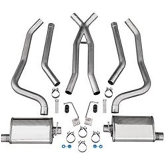 Dynatech® Long Tube 1968-72 Chevelle Stainless Dual Exhaust, 2-1/2 Inch