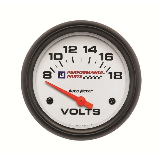 Auto Meter 5891-00407 GM White Air-Core Voltmeter Gauge, 2-5/8 Inch