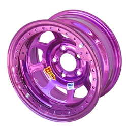 Aero 53-985010PUR 53 Series 15x8 Wheel, BL, 5 on 5 BP, 1 Inch BS IMCA