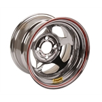 Bassett 37SH2C 13X7 Inertia 4 on 100mm 2 Inch Backspace Chrome Wheel