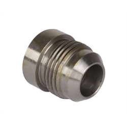 Male Steel 37 Degree AN Flare Weld Bung Fitting, -10 AN
