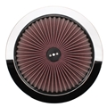 Speedway Super Flow 14 Inch Air Filter Top, Chrome
