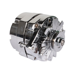 King Chrome One Wire Alternator, 65 Amp