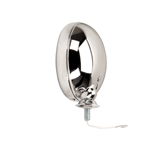 Chrome Vintage Style Fog Light, 12 Volt, Clear Lens