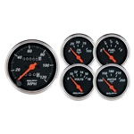 Auto Meter 1420 Designer Black 5 Piece Mechanical Gauge Kit
