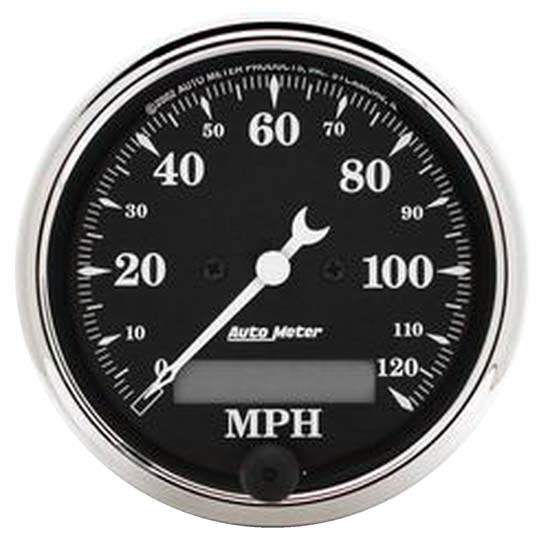 Auto Meter 1787 Old Tyme Black Air-Core Electric Speedometer, 3-1/8 In