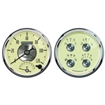 Auto Meter 2004 Prestige Antique Ivory Air-Core 2 Piece Gauge Kit