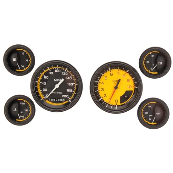 Automotive Gauge Sets : Classic instruments ax yblf auto cross gauge set