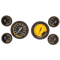 Classic Instruments AX01YBLF Auto Cross 6-Gauge Set, Yellow