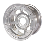 Bassett 58DP3SL 15X8 D-Hole 4 on 4.25 3 Inch BS Silver Beadlock Wheel