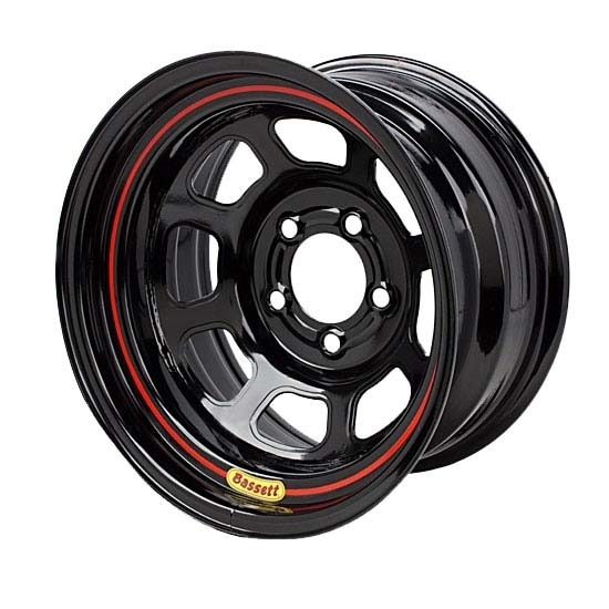 Bassett 58SC4 15X8 D-Hole Lite 5 on 4.75 4 Inch Backspace Black Wheel