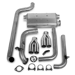Hooker 16827HKR Cat-Back Exhaust System, Natural Finish