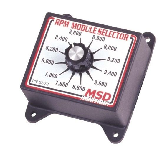 MSD 8673 RPM Module Rev Limiter Selector Switch, 7600-9800 RPM