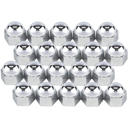 Flathead Ford V8 Intake Manifold Chrome Acorn Nut Covers, 9/16 Nuts