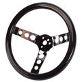Speedway Classic 12 Inch Black Steering Wheel w/ Holes