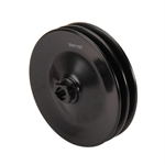 Black Double Groove Power Steering Pulley, Chevy