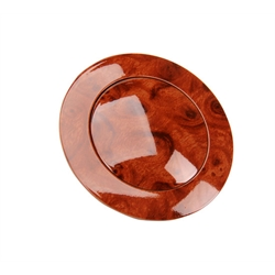GM Aluminum Woodgrain Steering Wheel Horn Button, 9 Bolt