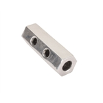 Hex Polished Aluminum Fuel Block, 2-Hole