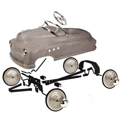 Comet Pedal Car Assembly Kit, Plain Grey