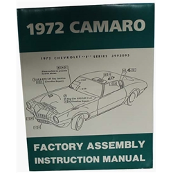 Dave Graham 72-CAFA Factory Assembly Manual for 1972 Camaro