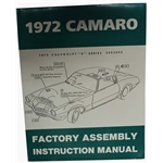 Dave Graham Factory Assembly Instruction Manual for 1972 Camaro
