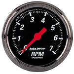 Auto Meter 1497 Designer Black Air-Core In-Dash Tachometer Gauge