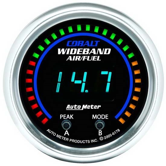Auto Meter 6178 Cobalt Digital Wideband Air/Fuel Ratio (AFR) Gauge