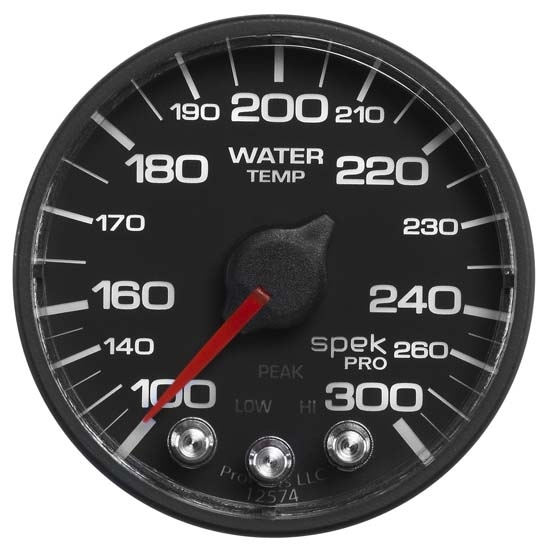 Auto Meter P346328 Spek-Pro Digital Stepper Motor Water Temp Gauge