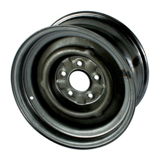 O/E Style Hot Rod 15 Inch Steel Wheel, Raw Finish, 15x8, 5 on 4-1/2