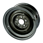 O/E Style Hot Rod Steel Wheel, Raw Finish, 15 x 8, 5 on 4-1/2 Inch