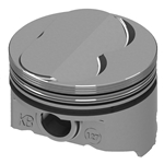KB Chevy 400 Hyperutectic Pistons, .100 Dome, 5.7 Rod