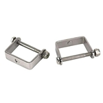 Stainless Steel Spring Clamps, 2 Inch Wide Leaf Spring