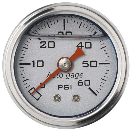Auto Meter 2179 Auto Gage Mechanical Pressure Gauge, 1-1/2 Inch, 0-60