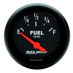 Auto Meter 2648 Z-Series Air-Core Fuel Level Gauge, 2-1/16 Inch