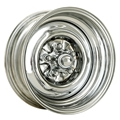 O/E Style Hot Rod Steel Wheel, Chrome, 15 x 7, 5 on 4-1/2 Inch