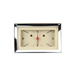 Classic Instruments CH57CLT Dash Clock, Tan Face, 1957 Chevy