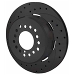 Wilwood 160-9812-BK SRP Drilled RH Rotor/Hat, 1.91 Inch Offset, Black