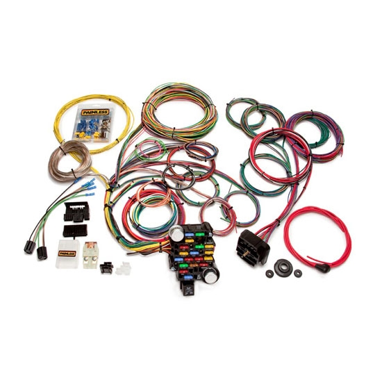 painless wiring 20104 universal 28 circuit car wiring harness free shipping speedway