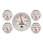 Garage Sale - Auto Meter Artic White Gauge Set, Electric Speedo