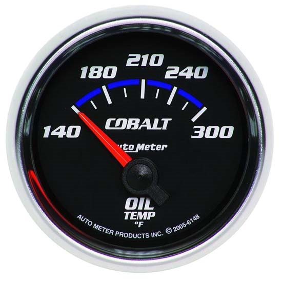 Auto Meter 6148 Cobalt Air-Core Oil Temperature Gauge, 2-1/16 Inch