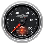 Auto Meter 7653 Sport-Comp II Digital Stepper Motor Oil Pressure Gauge