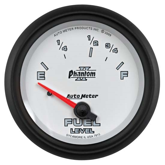 Auto Meter 7815 Phantom II Air-Core Fuel Level Gauge, 2-5/8 Inch