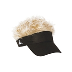 FlairHair Visor, Black w/ Gray Hair