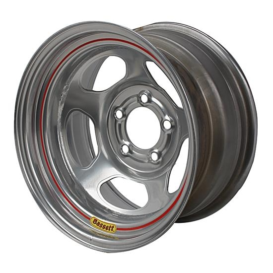 Bassett 50LC5S 15X10 Inertia 5 on 4.75 5 Inch Backspace Silver Wheel