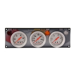 Longacre 44416 AccuTech 3 Gauge Panel w/Sportsman Gauges, OP/WT/FP