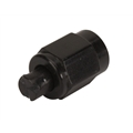 Aluminum Flare Fitting Cap, Black, -3 AN